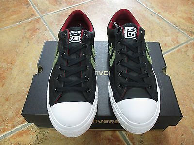 Converse Chuck STAR PLAYER LEATHER OX Gr.45 Farbe Black Fatigue Green Red Block