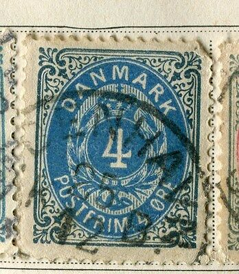 DENMARK;  1875 early classic ' ore ' issue used 4ore. value