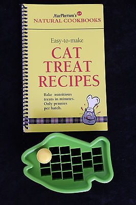 Cat Treat Cutter Set and Recipe Book. Free 1st class post