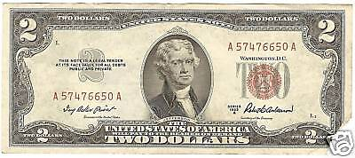 Series 1953-A Us Note  $2 Bill ~~Tough Date~~Au-Corner