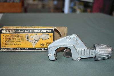 """Vintage GENERAL TOOLS - ENCLOSED FEED TUBING CUTTER - 1/8"""" - 1-1/8"""" USA MADE"""
