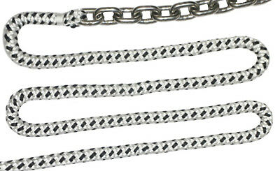 """New 150'x1/2"""" Rope & 15'x1/4"""" HT G4 Stainless Chain, Boat Windlass, Prespliced"""