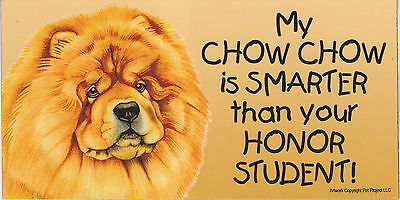My CHOW CHOW is SMARTER than your HONOR STUDENT car/fridge MAGNET 4X8