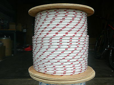 "NovaTech XLE Sheet Halyard Line 1/2"" x 150' White/Red Rope"
