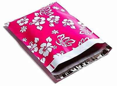 100 10x13 Pink Aloha Designer Mailers Poly Shipping Envelopes Boutique Bag