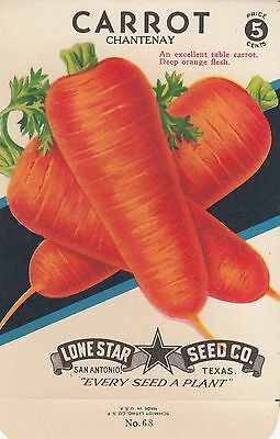 Vintage  seed packets -5¢ Chantenay Carrot-----100