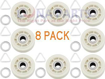 (8 Pack) 279640 Idler Pulley Roller Whirlpool Kenmore Dryer PS334244, AP3094197