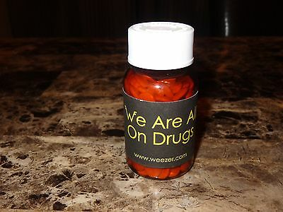 Weezer Rare Promo Prop Pill Bottle We Are All On Drugs Single 2005 Rivers Cuomo
