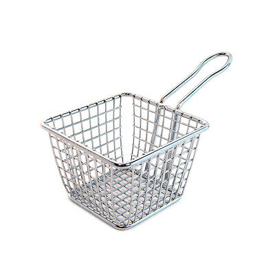 American Metalcraft 4x7 Stainless Steel Square Fry Basket FRYS443