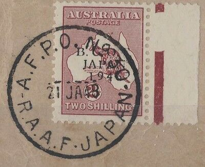 1947 Australia BCOF 2/-  SG J6 nice RAAF cancellation on paper