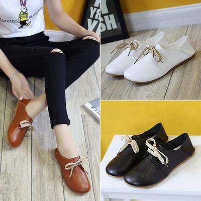Fashion Women Flats Shoes Slip On Comfort Shoes Casual Leather Students Loafers
