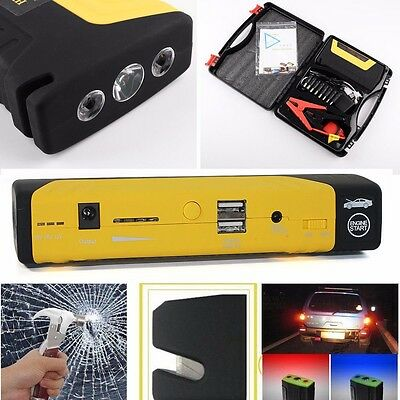 50800mAh Portable Car Jump Starter Pack Booster Charger Battery Power Bank 12V