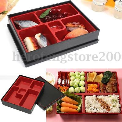 Portable Japanese Sushi Wood Bento Lunch Box Food Container Picnic 5 Compartment