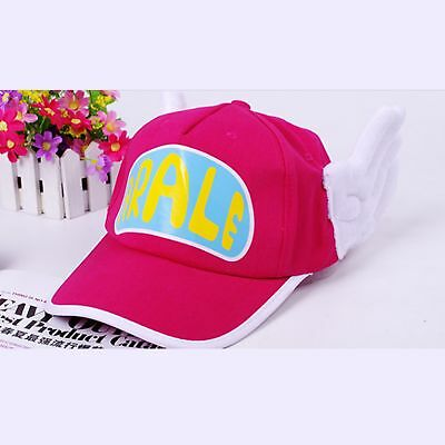 Pink Dr. Slump Arale Angel Wings Fashion Costume Party Cap Hat + Glasses +Buckle