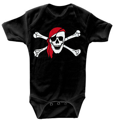 Baby Body Pirate Skull high quality Quality Bodies 0-24 Months 08367