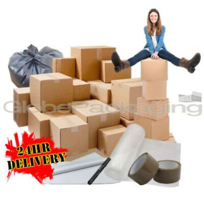 40 XL Large Cardboard ECONOMY Box House Moving Packing Removal Boxes Kit *NEW*