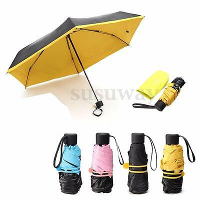 Sombrillas Paraguas Anti UV Lluvia Sol Protección Plegable Umbrella Resistente