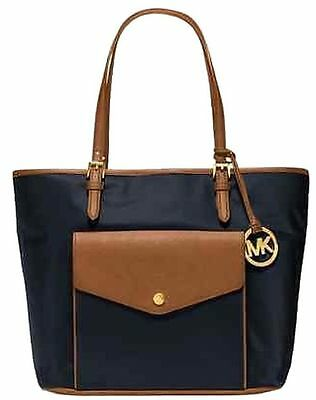 6053b903cfbe Michael Kors Jet Set Item Nylon Black+Brown Pocket Multi Function Tote,bag,