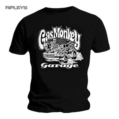 Official T Shirt GMG Gas Monkey Garage Black HOT ROD Classic All Sizes