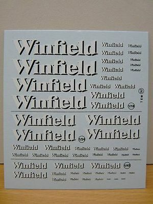 Set Logo Decalcomanies Winfield 1/43 - 1/18