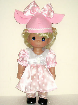 Precious Moments Disney Precious In Pink Blonde Minnie Mouse Doll #5225