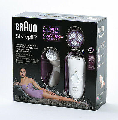 Braun Silk-epil 7 Ladies' Epilator Bikini Trimmer Hair Removal+Facial Clean Bush