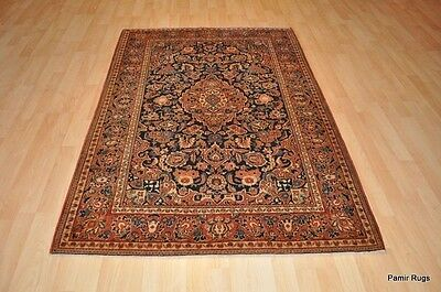 ANTIQUE PERSIAN KASHAN 5X7 FT. AUTHENTIC pre 1900 late 19th. century area rug