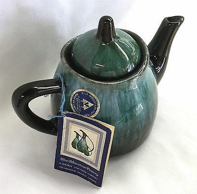 Blue Mountain Pottery 2 Cup Teapot With Sticker And Hang Tag Mint