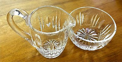 Waterford Crystal Cream And Sugar Set Mint