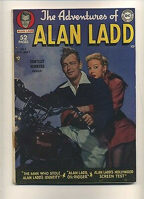 Adventures of Alan Ladd #4 (Q) DC Comics 1950 Photo cover Golden Age (c#08879)