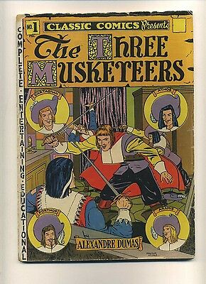 Classic Comics #1 (HRN 18/20) (G-) Gilberton 1945? The Three Musketeers (c#08911