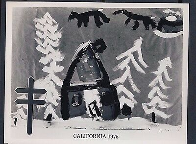 1975 Christmas Seals Design Enlargement California 8 by 10 Photo Paper - #3619
