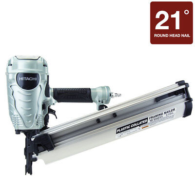 "HITACHI NR90AES1 2"" to 3-1/2"" Plastic Collated Framing Nailer Nail Gun Framer"