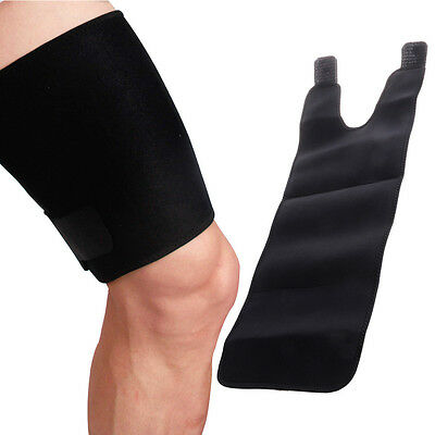 Thigh Wrap Sleeve Leg Brace Compression Hamstring Groin Support Wrap Bandage New
