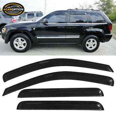 For 05-10 Jeep Grand Cherokee Acrylic Window Visors 4Pc Set
