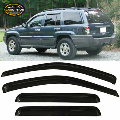 For 99-04 Jeep Grand Cherokee Acrylic Window Visors 4Pc Set