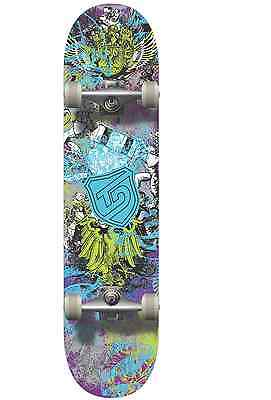 "Kids Beginner Skateboard Complete - 7.125""x28"" -9 ply Maple - Abec3 Carbon - Sky"