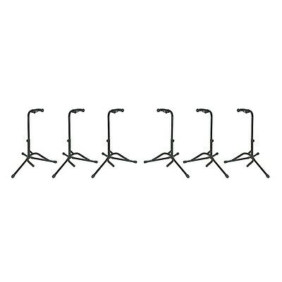 Musician's Gear Electric, Acoustic and Bass Guitar Stands (6-Pack)
