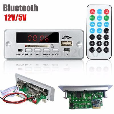 DC 12V/5V LED Auto Bluetooth MP3 Decode Board Digital Amplifier board SD USB FM