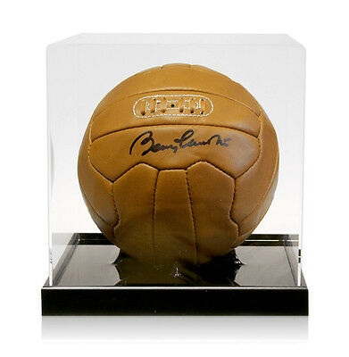 Sir Bobby Charlton Signed Leather Football With Acrylic Display Case