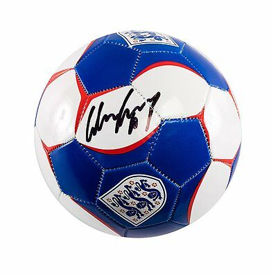 Wayne Rooney Signed Football - England Three Lions Autograph