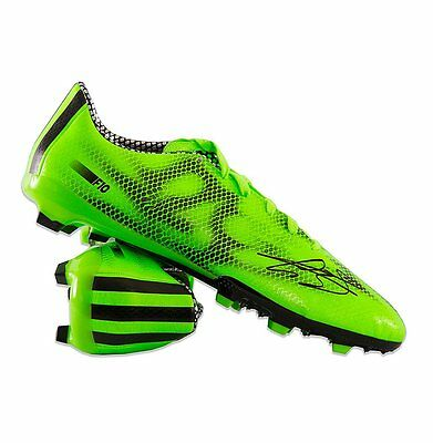 Gareth Bale Hand Signed Football Boot Adidas F10 - Green Autograph Cleat