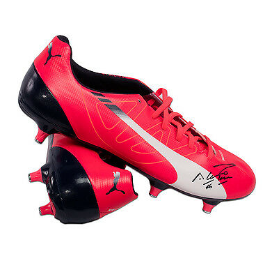 Sergio Aguero Signed Puma Football Boot - Pink Autograph Cleat
