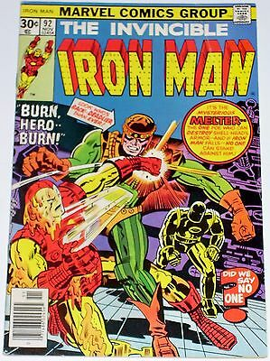 Iron Man #92 from Nov 1976 VG/F to F