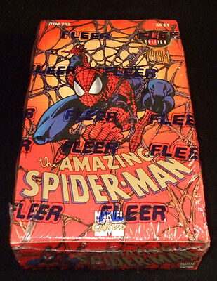 1994 Fleer Marvel Amazing Spider-Man 1st Edition Trading Card Box 36 Packs