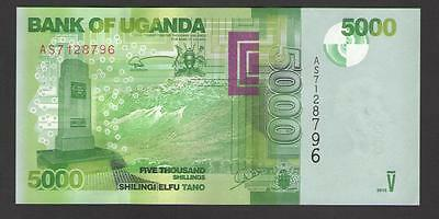 UGANDA  -  5000  SHILLINGS  2013  Prefix AS -  P 51 NEW  Uncirculated Banknotes