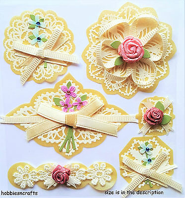 Ek Success Jolee's Boutique 3-D Stickers - Layered Doilies With Bows