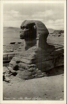 Cairo Egypt The Great Sphinx c1920s Real Photo Postcard
