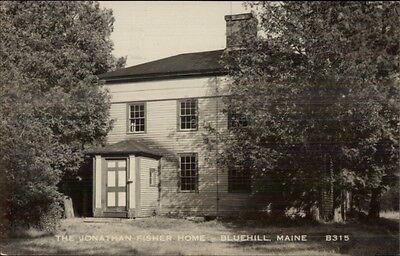 Bluehill Blue Hill ME Jonathan Fisher Home Real Photo Postcard