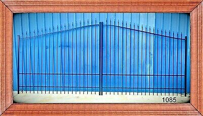 Driveway Entry Gate 16 Foot Wide Dual Swing, Fencing Yard Security  Residential